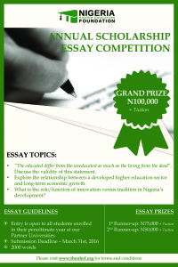 Do you know of any good scholarship essay contests?
